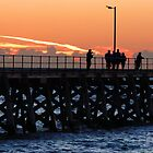 Jet trail at dusk beyond the Jetty by Simon Bannatyne