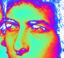 Bob Dylan Psychedelic Sticker
