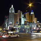 New York, Las Vegas by night by Philip Kearney