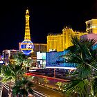 Paris, Las Vegas, by night by Philip Kearney