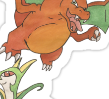 Laura's Pikachu, Charizard and Serperior Sticker