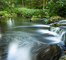 Hebden Water, Hardcastle Crags by Philip Kearney