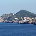 Mountains from the Harbor of Old Dubrovnik by Laurel Talabere