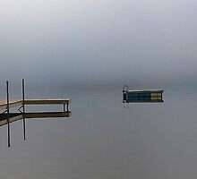 Reflections - Keoka Lake (Early Fall) by T.J. Martin