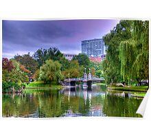 Boston Public Garden in Autumn Poster