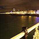 Brighton From Pier Blue by Jamie O'Mara