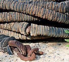 Rusty, Crusty, Fishing Boat Hose by phil decocco