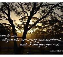 Come to me, all you who are weary and burdened by Catherine Davis