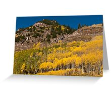 Gold and Granite Greeting Card