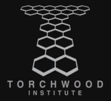 Torchwood Light Gray Logo and Name T-Shirt