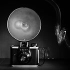Flash Bulb and an Ansco Camera   by susan stone