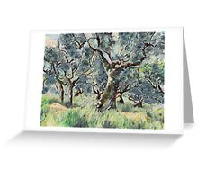 In the Umbrian Olive Grove Greeting Card