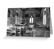 Inside St Mary's Chapel, Lead Greeting Card