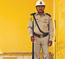 Royal Palace Guard - Phnom Penh, Cambodia by Anthony and Kelly Rae