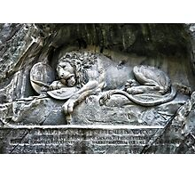 """Löwendenkmal"" Lion of Lucerne Photographic Print"