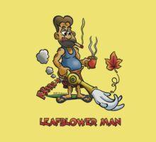 LEAFBLOWER MAN by NHR CARTOONS .