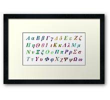 Greek Alphabet White 1 Framed Print