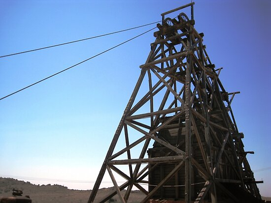 Headframe, Gwalia by sharonjr