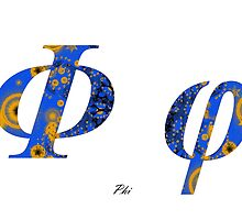 Phi Greek Alphabet by joancaronil
