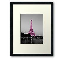 La Vie En Rose - Eiffel Tower in pink Framed Print