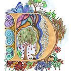 D - an illuminated letter by wiccked