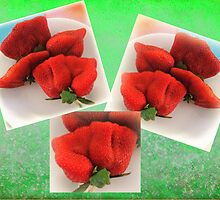 Giant Strawberry Collage by Margaret Stevens