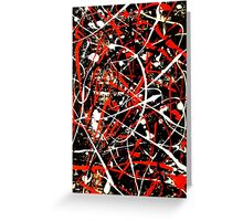 Abstract Splatter Painting Greeting Card