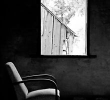 Solitary (B&W) - Shearers Quarters, Bathurst, NSW by Dawn Webb