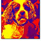 Cavalier King Charles Spaniel Abstract by Sarahbob