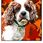 Cavalier King Charles Spaniel Abstract 2 by Sarahbob