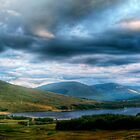 Rainbow Over Rannoch Moor by Aj Finan