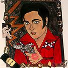 """Hotter than a Pistol"" ~Elvis ~ Painted in Make Up N' Nail Polish! by Ambur Rockell"