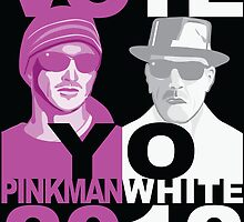 BrBa Breaking Bad VOTE YO Pinkman White 2012 poster by BrBa