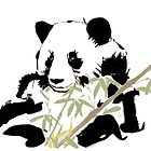 Giant Panda (Ailuropoda melanoleuca) (Chinese brush art) by Terry Bailey