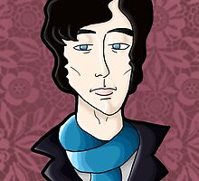 Benedict Cumberbatch, as Sherlock Holmes by Aimee Conway