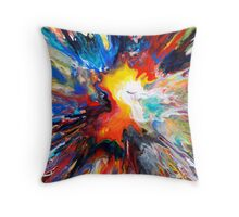 Colourful Spin Painting 24 Throw Pillow