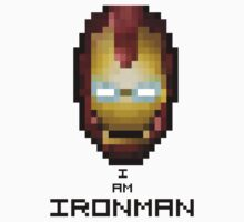 8-Bit Iron Man (Pixel Art) by Bryan Martin