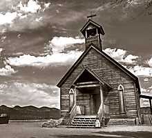 The Country Church by Sue  Cullumber