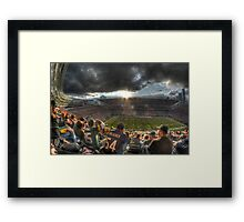 Bears vs. Packers: Rivalry in the Stands Framed Print