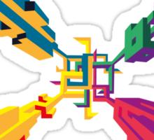 3D geometrics Sticker