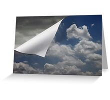 Unfolding Weather Greeting Card