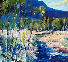 Along the lazy stream Qld Australia by Margaret Morgan (Watkins)