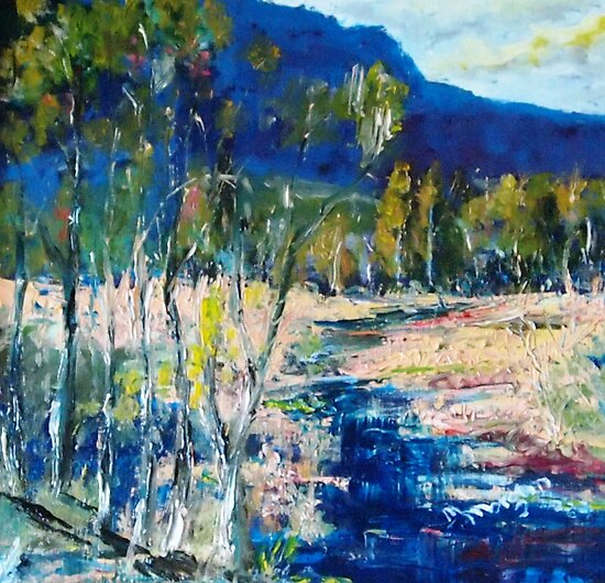Along the lazy stream Qld Australia by Margaret Morgan (Watkins)