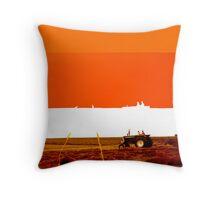 Imprint of an Iowa Field Throw Pillow