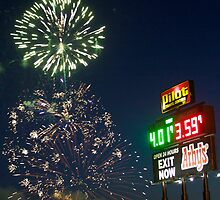 FIREWORKS AT THE TRUCK STOP by Gerald Aycock