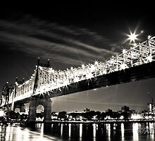 Queens Borough Bridge at night by AdzPhotos