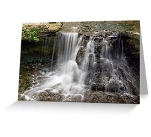 Waterfall at Indiana's McCormick's Creek State Park Greeting Card