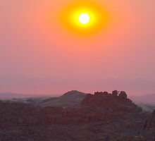 Sunset in Damaraland, Namibia by supergold