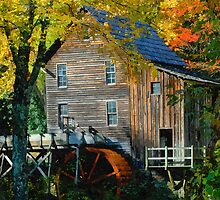 Mill in Autumn by Anthony M. Davis