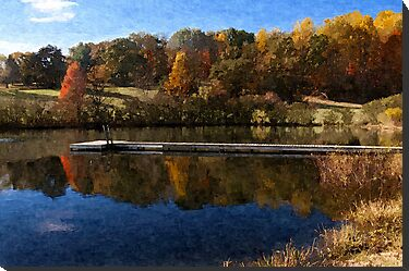 Fall Pond by Anthony M. Davis